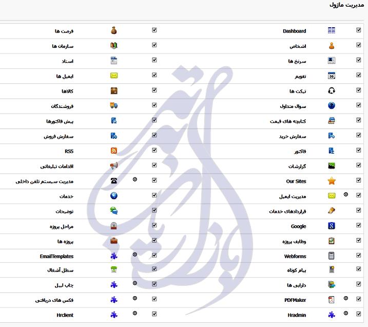 مدیریت ماژول در ویتایگر فارسی